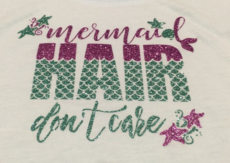 Mermaid Hair Dont Care shirt, mint and purple glitter shirt, beach shirt, mermaid life, mermaid shirt, little mermaid by LakesideDesigns1 on Etsy