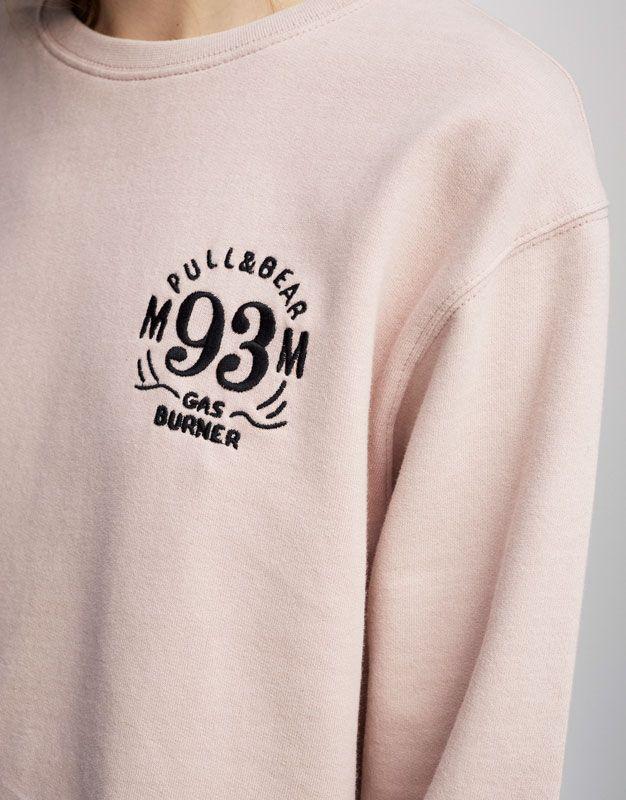 Sudadera bordado logo MM93 (Colección Marc Márquez) - Estampadas - Sudaderas - Ropa - Mujer - PULL&BEAR España