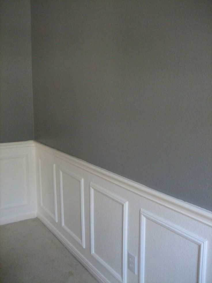 Wainscoting Ideas For Your Wall Decor Idea: Grey Wall With White Wainscoting  Ideas For Perfect Traditional Interior Design
