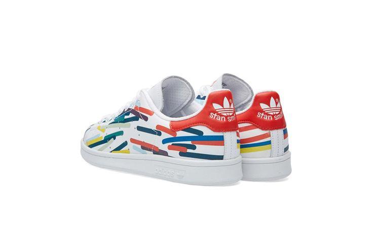 在空白處填上色彩的 adidas Original Stan Smith