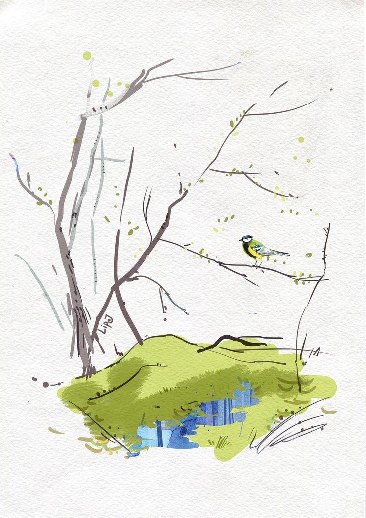 Сообщество иллюстраторов / Иллюстрации / Юля Липовка / Весна