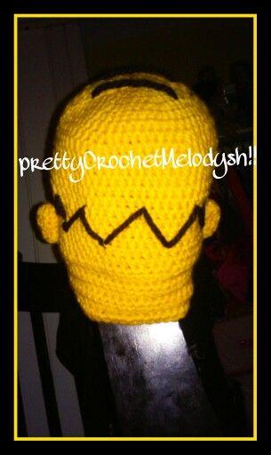 Homero simpsom crochet hat