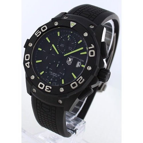 Tag Heuer Aquaracer Chronograph Automatic Black Dial Titanium Mens Watch CAJ2180.FT6023: Watches: Amazon.com