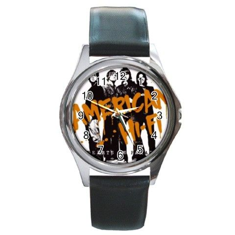 american high fives Round Metal Watch