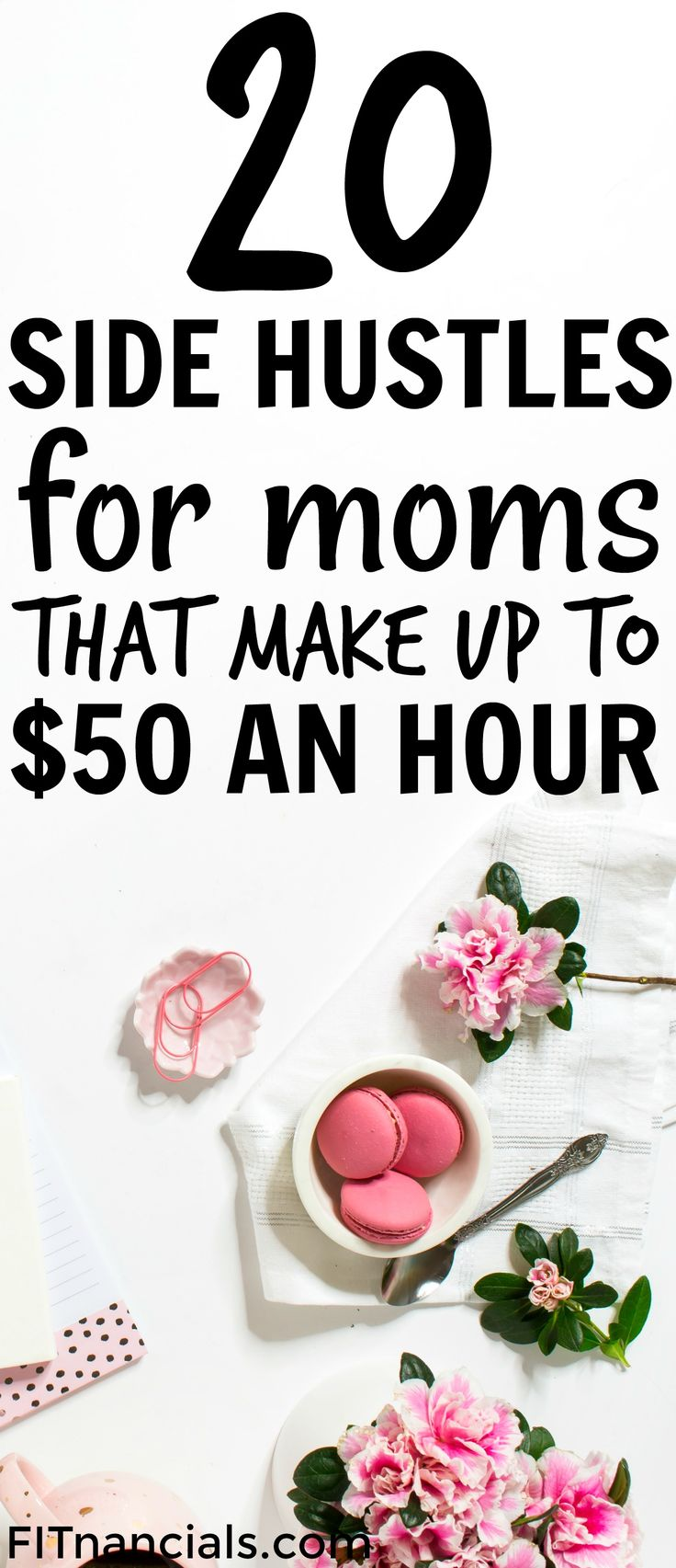 Check out this list of 20 side hustles perfect for stay at home moms. This is an awesome list!