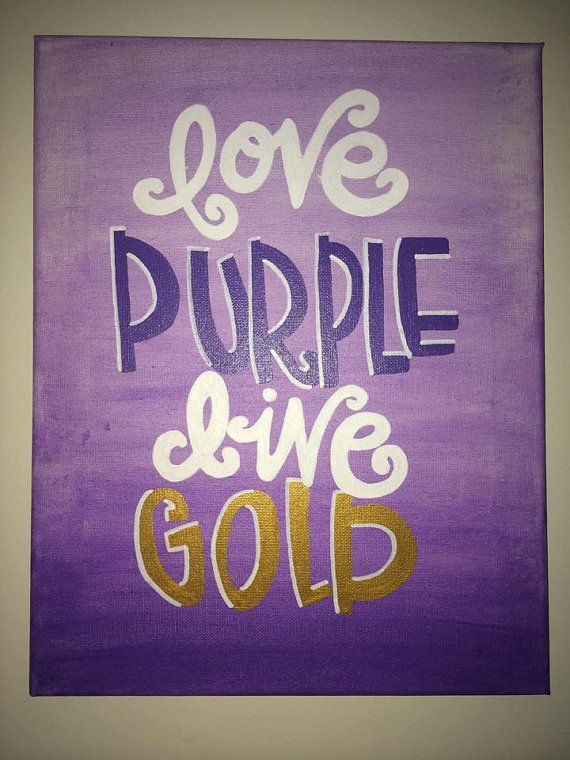 Made to Order Canvas JMU Love Purple Live Gold by AllThingsJMU