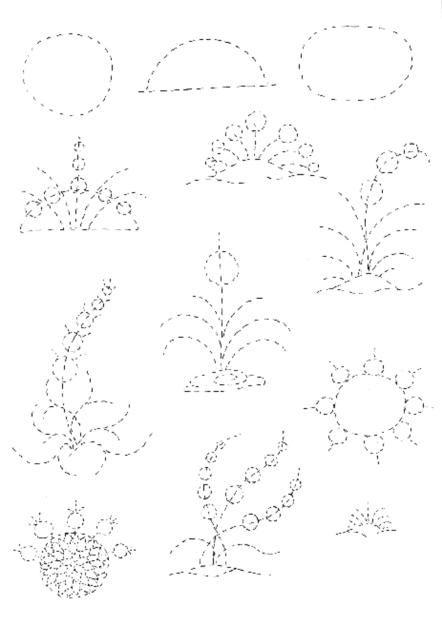 Cahide Keskiner - Minyatür Sanatında Doğa Çizim ve Boyama Teknikleri  Bitkilerin şematik düzenlenmesi