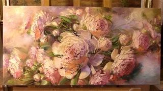 oil painting of peonies - YouTube
