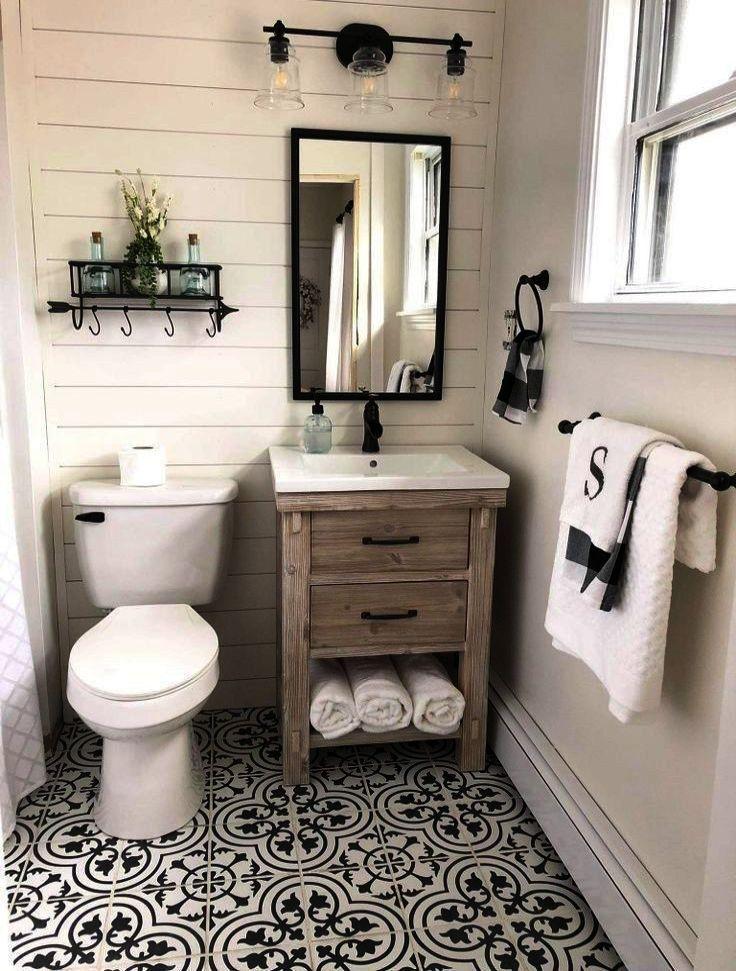 Bathroom Ideas On A Budget Uk Bathroom Ideas Long Narrow Space Inside Bathroom Ideas P Small Farmhouse Bathroom Bathroom Design Small Bathroom Farmhouse Style
