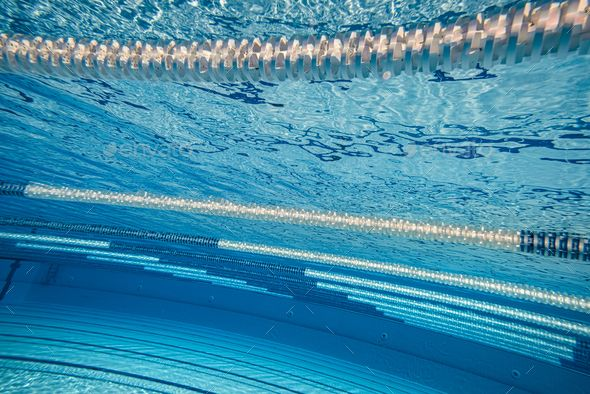 Olympic Swimming Pool Under Water Background Olympic Swimming Swimming Water Background