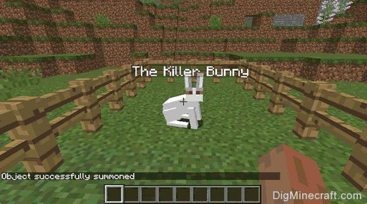 Summon the Killer Bunny in Minecraft (game commands and cheats)