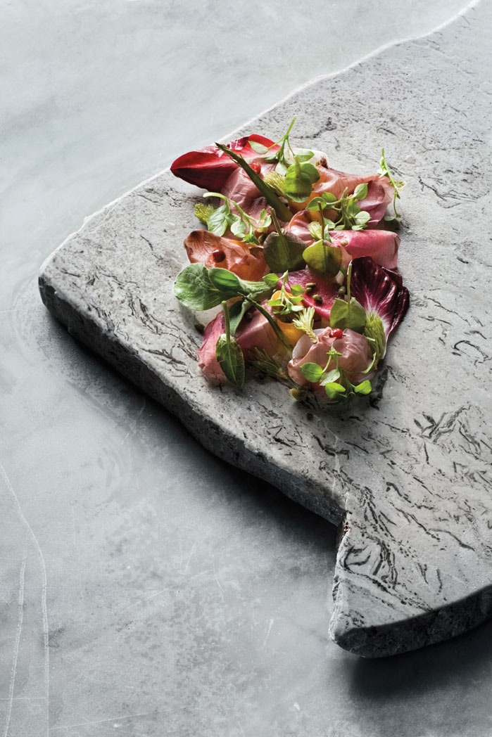 From Collio 2010, René Redzepi's pickled root vegetables, rose, elderflower, sprouts, and shoots. - Per-Anders Jorgensen