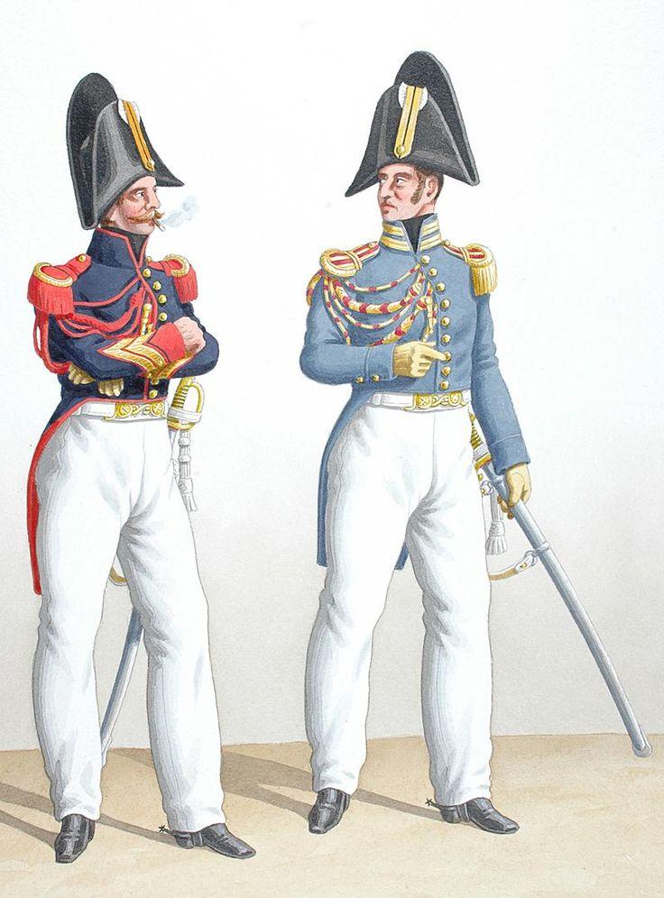 1830. Garde Royale. Artillerie. Maître-Ouvrier, Vétérinaire en Premier.