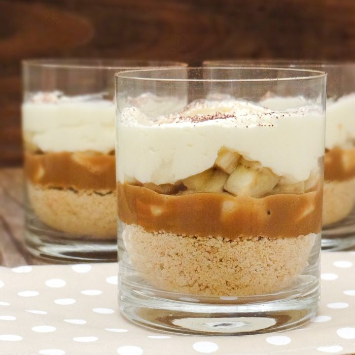 Learn how to make this delicious and easy Banoffe Pie in individual servings | Travel Cook Tell