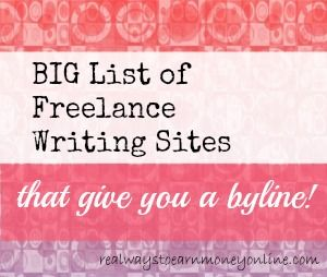 List of Writing Sites That Give You a Byline