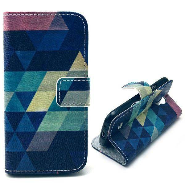 Colorful triangle bookcase voor Samsung Galaxy S4 mini