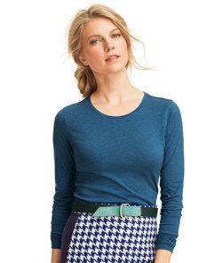 #LLBean: Signature Cotton/Modal Tee, Long-Sleeve Crewneck