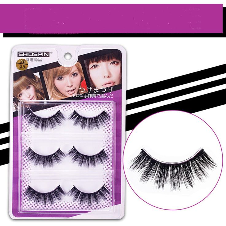 3 pairs/lot Handmade valse 3d lashes make up nep wimpers eyelash trendy wispies eyelashes extension made in china