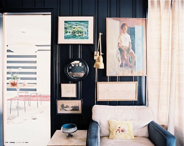 love the black paneled walls