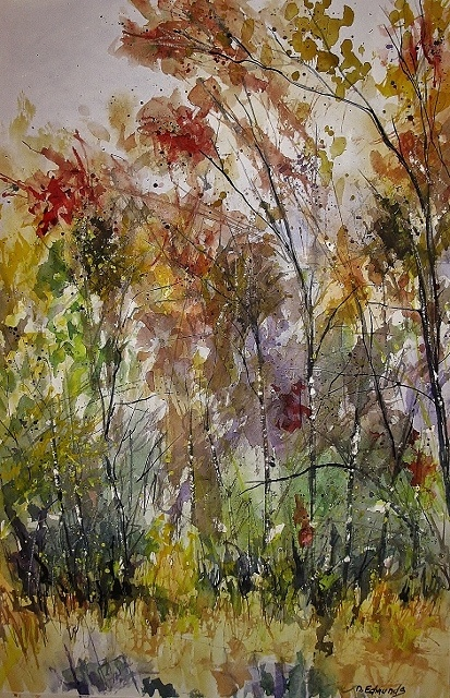 """I call this one, """"Last October"""", it's a watercolor on paper"""