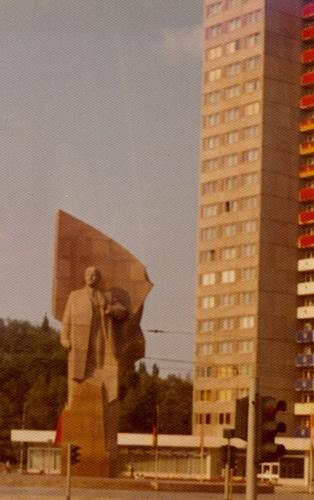 1972 - East Berlin: Statue of Lenin, now 'Platz der vereinten Nationen'