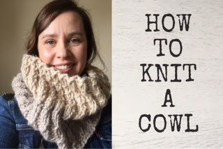 Teo's : How to knit a cowl