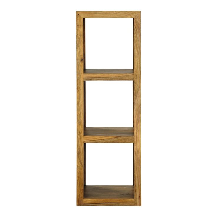 Solid sheesham wood shelf tower unit H 104cm Stockholm