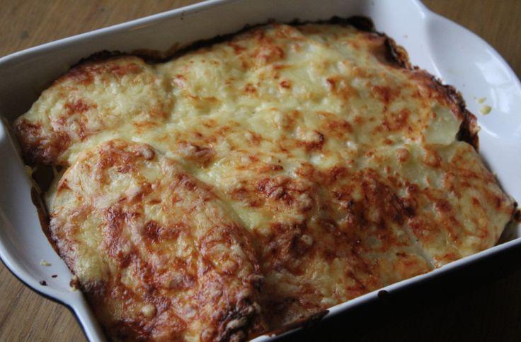 Healthy potatoes dauphinoise