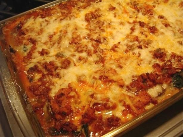 """you ll Never Miss the Noodles"" Lasagna from Food.com:   								I found this recipe on a low carb site and modified it slightly to suit our tastes. We had it for dinner last night and it was AWESOME!! Very yummy and the flavor of all those fresh veggies blended beautifully with the sauce! DH went back for seconds, so this is definitely a keeper. Add a side salad and your meal is complete!"