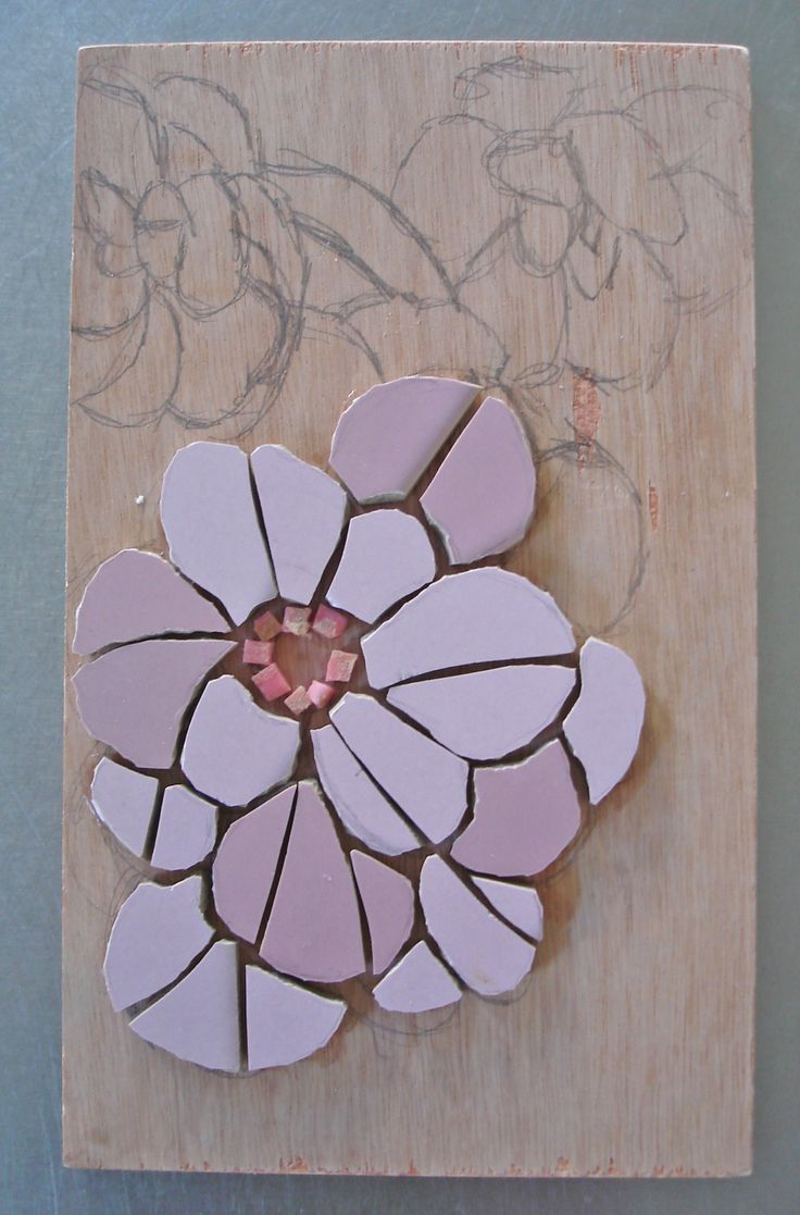 Karen's mosaic- based on flowers at Norton Priory Gardens