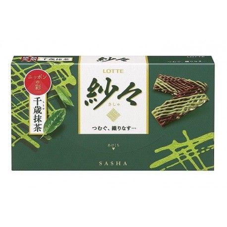 Sasha green tea chocolate Sasha au chocolat et thé vert