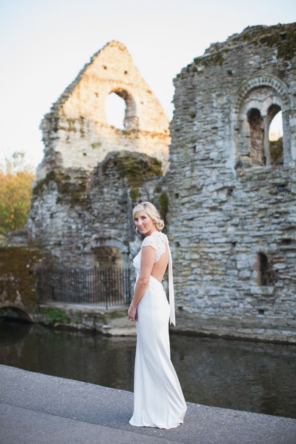A Backless David Fielden Wedding Dress for a Pastel Colour Spring Time Celebration http://www.hayleysavagephotography.co.uk/