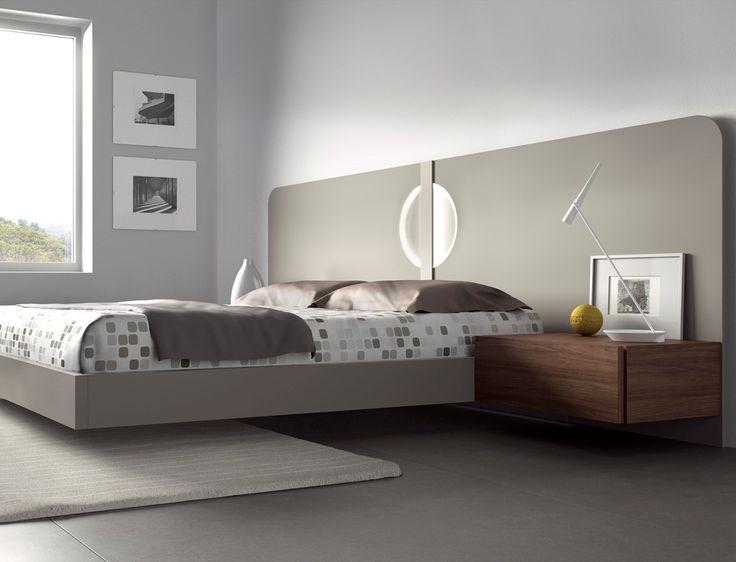 Guardia - LUNA Matt Lacquer or High Gloss Modern Bed