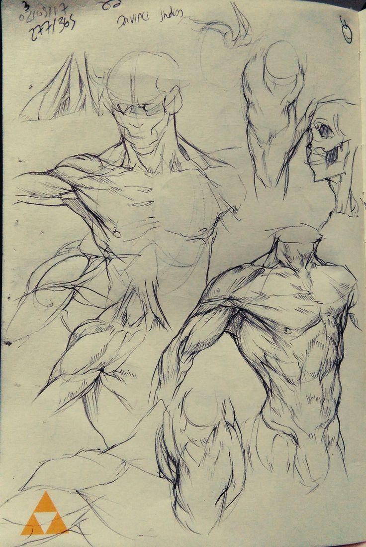 Eine Menge Skizzen, die ich vor einigen Wochen angefertigt habe und mich auf Anatomie, Kleidung, dynamische Haltung und Struktur konzentrierte. Entschuldigung für die schlechten Fotos auf einigen der …