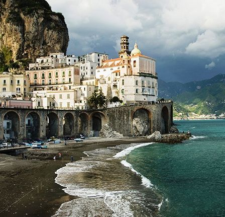 Soaring bluffs and charming hillside villages make Italy's Amalfi Coast an unforgettable honeymoon drive.