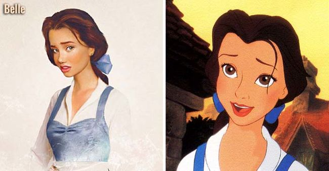 Realistic drawings of Disney princesses--these are awesome!