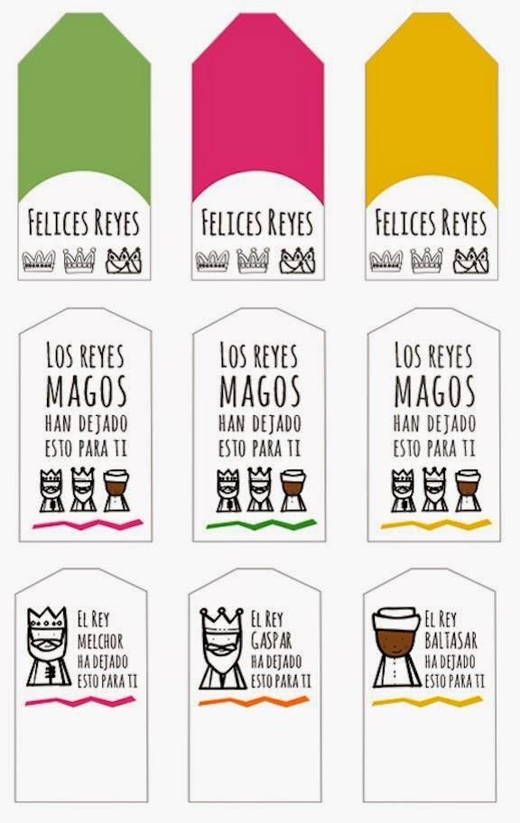 ETIQUETAS IMPRIMIBLES REYES MAGOS / THREE KINGS PRINTABLE TAGS