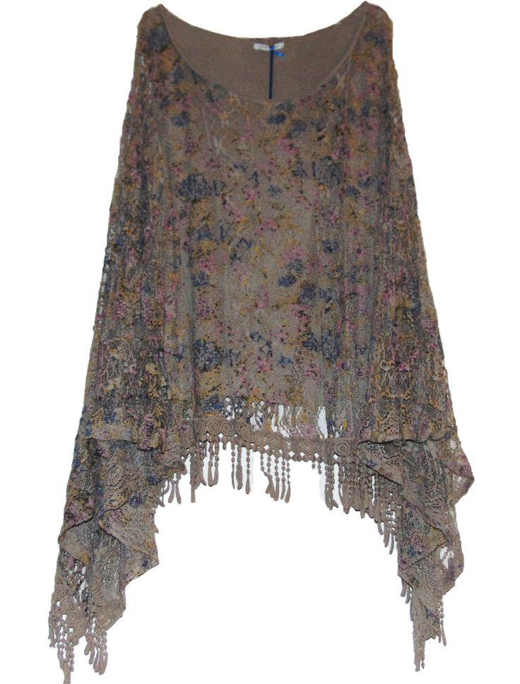 NEW WOMENS ITALIAN LAGENLOOK QUIRKY KAFTAN LACE CROCHET BOHO DRESS BATWING TOP | eBay
