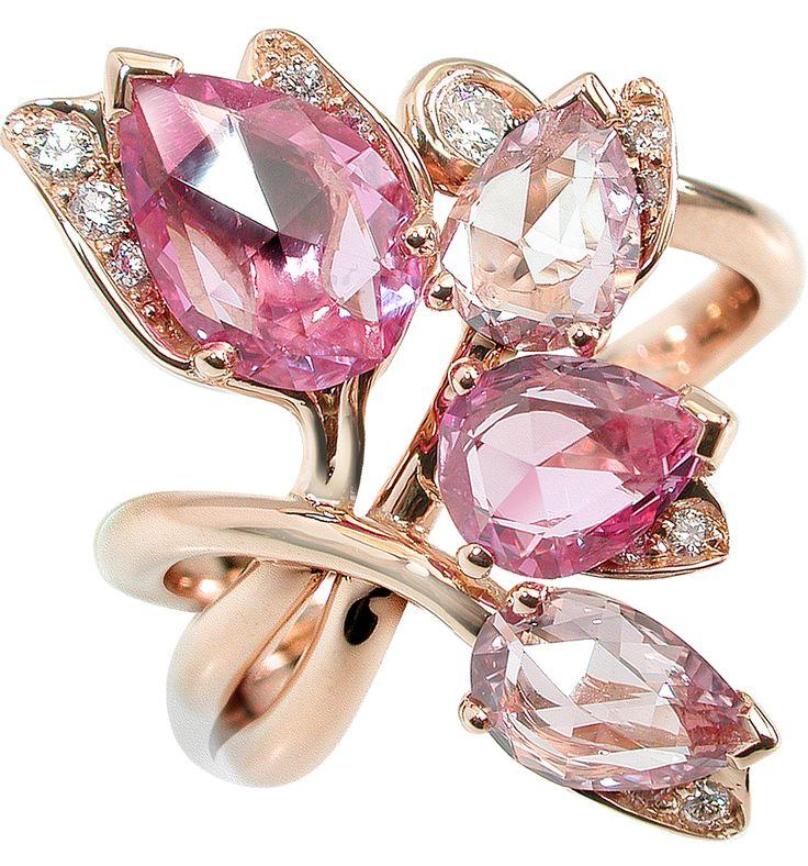 Pink gold Diamonds Pink sapphires