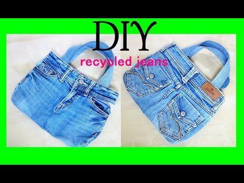 デニム リメイク バッグの作り方 DIY Jeans BAG ( recycled denim)