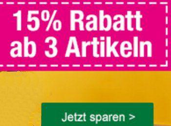 Galeria Kaufhof: 15 Prozent Rabatt auf Spielwaren und Kinderbekleidung https://www.discountfan.de/artikel/technik_und_haushalt/galeria-kaufhof-15-prozent-rabatt-auf-spielwaren-und-kinderbekleidung.php Ab sofort und nur bis zum 9. Oktober lockt bei der Galeria Kaufhof ein Rabatt von 15 Prozent auf Spielwaren und Kinderbekleidung. Voraussetzung: Es müssen mindestens drei Artikel gekauft werden. Galeria Kaufhof: 15 Prozent Rabatt auf Spielwaren und Kinderbekleidung (Bild: Gal