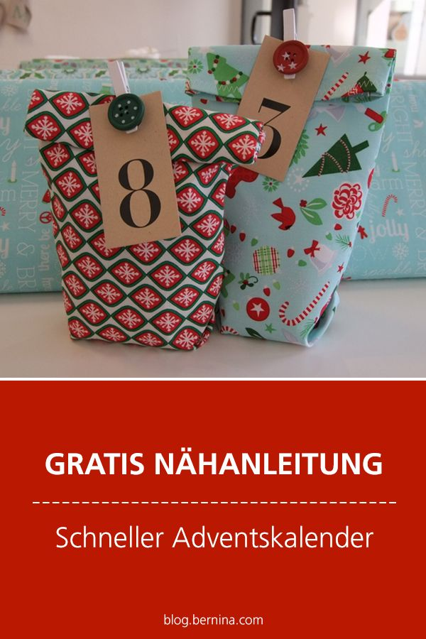 Free sewing instructions: Fast advent calendar