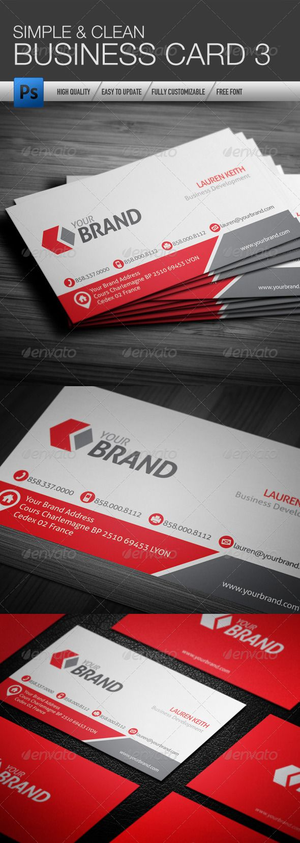 Best 25 cleaning business cards ideas on pinterest visit cards simple and clean business card 3 magicingreecefo Images