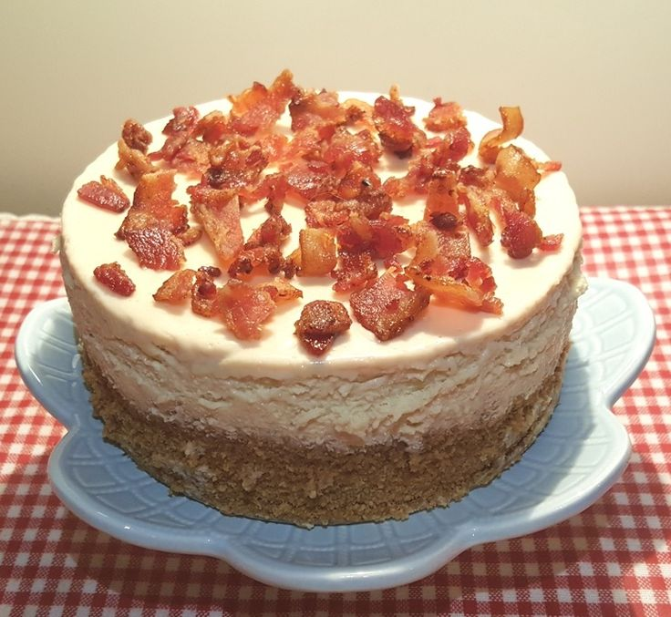 Pressure Cooker Maple Bacon Cheesecake with Candied Bacon Image