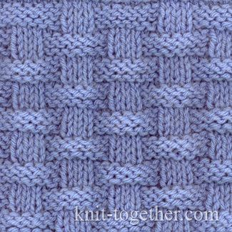 Basket (Wicker) Stitch Pattern 2, knitting pattern chart,