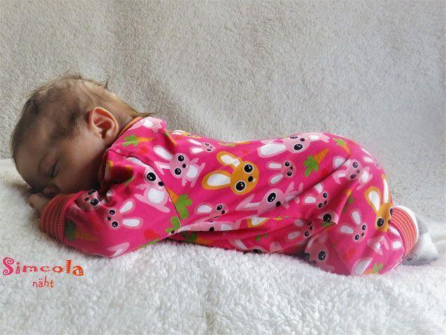 FREEBOOK: Jumpsuit in den Größen 50 und 56/62! Baby Onesie selbst nähen (Lybstes.)   – freebooks
