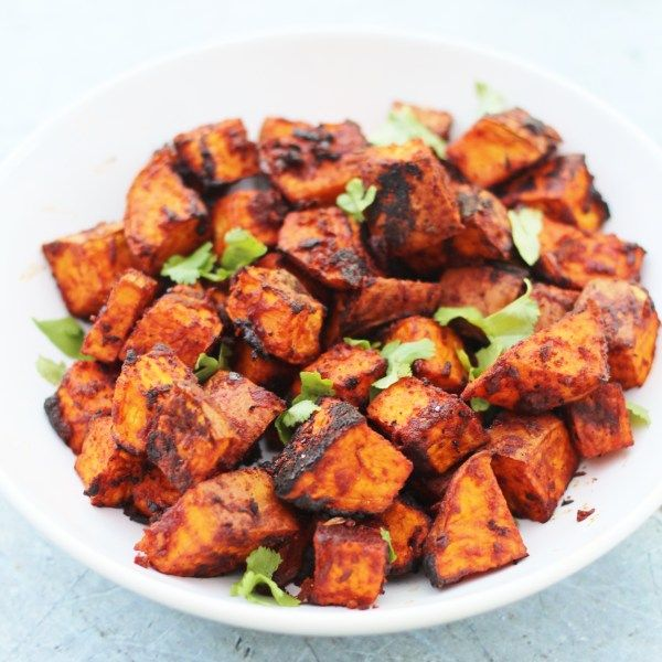 Mexican Roasted Sweet Potato Cubes - Easy Peasy Foodie