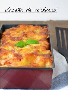 Lasaña de verduras al horno / vegetable lasagna | Cuuking!