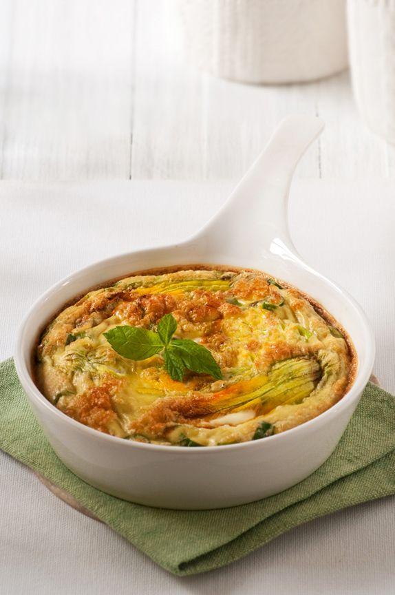 Cheesy Squash Blossom Frittata (serves 2: 4 eggs, 1/4 C grated ...