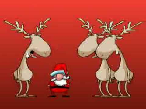 Rentiere singen Weihnachtslied